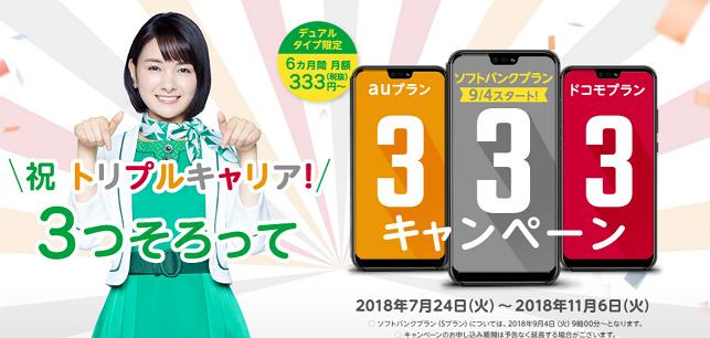 マイネオ333円キャンペーン