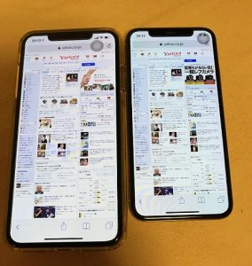 iPhone XS Max・iPhone X比較画像②