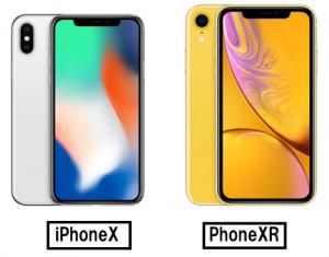 iPhoneX iPhoneXRサイズ違い