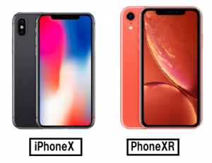 iPhoneXとiPhoneXRのホームボタン比較