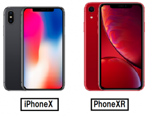 iPhoneX iPhoneXRカラー比較