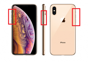 iphoneXSサイドボタン画像