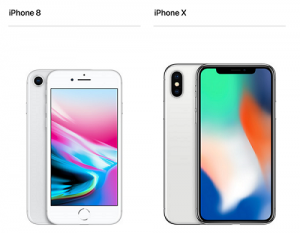 iPhone 8 iPhone X画面大きさサイズ比較画像