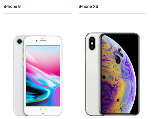 iPhone8 iPhoneXS比較