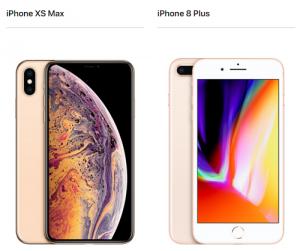 iphone x max 8plus サイズ 比較画像