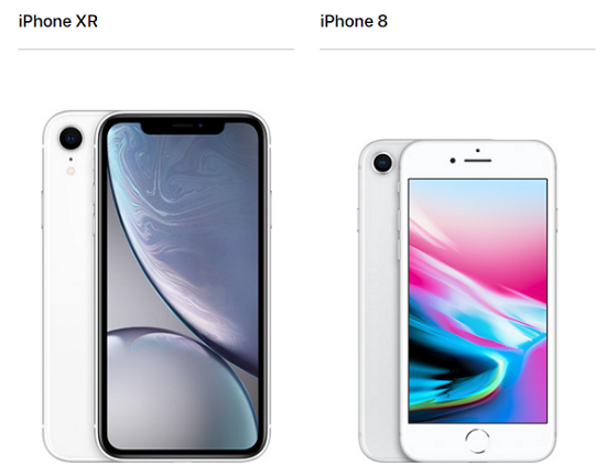 iPhone XR iPhone 8