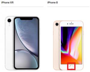 iPhone XR iPhone 8 ホームボタン