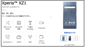 Xperia XZ1ソフトバンク