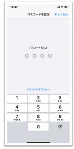 iPhoneパスコード入力画像