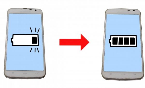 スマホ電池寿命が長持ちしている画像