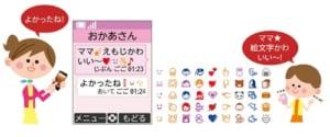 キッズケータイF-03J メール絵文字