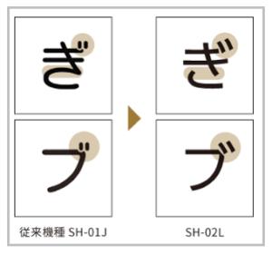 SH-02 文字
