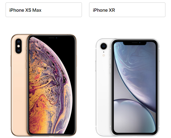 iPhone XS Max iphone10r比較