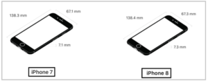 iphone7 8 サイズ比較
