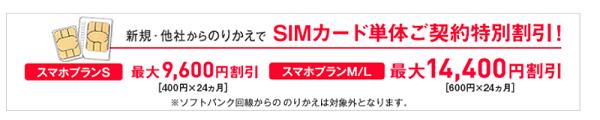 ワイモバイルSIM契約