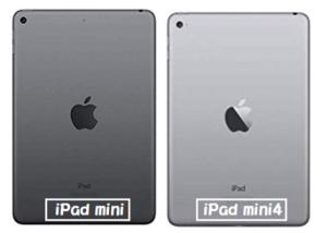 iPad mini iPad mini4 スペースグレイ カラー比較