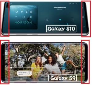 GalaxyS9 GalaxyS10 サイズ比較