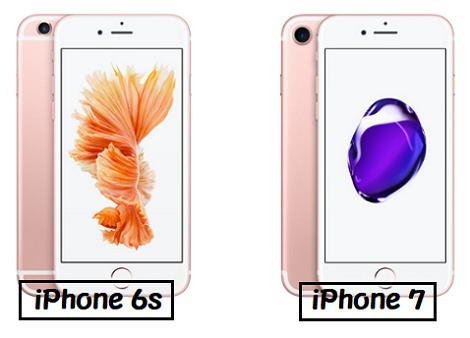 iPhone 6s iPhone7 比較