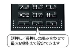 arrows ケータイ F-03L お気に入りボタン