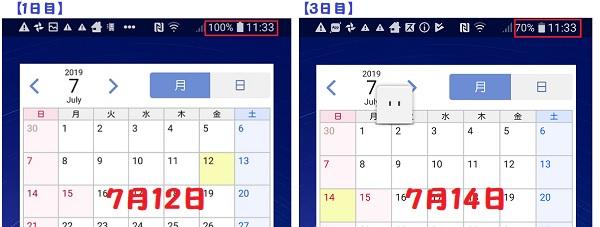 LG style2 充電1日~3日