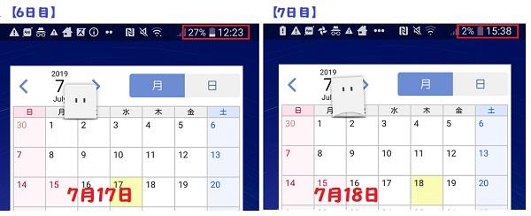 LG style2 充電3日~7日
