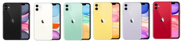 iPhone11 カラーバリエーション