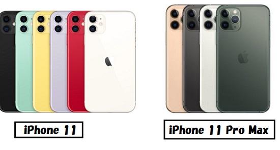 iPhone 11 iPhone 11 Pro Max