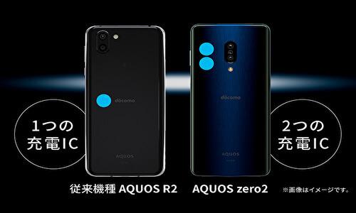 AQUOS zero2パラレル充電