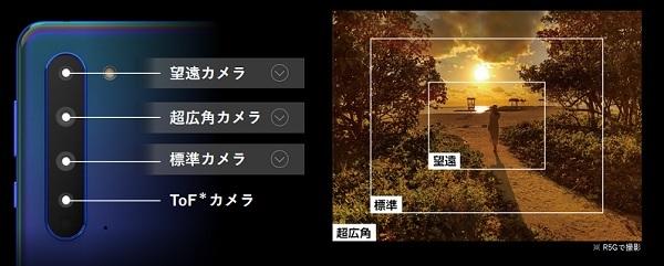 AQUOS R5G クアッドカメラ