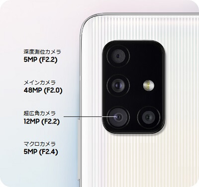 Galaxy A51カメラ性能