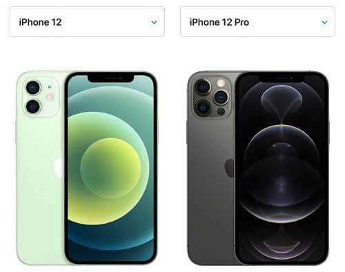 iPhone12とiPhone12 Pro:大きさサイズの違い比較
