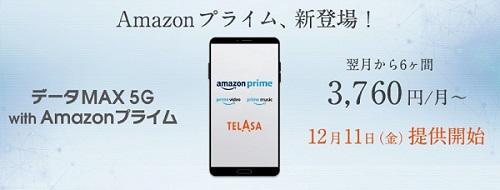 データMAX 5G with Amazon プライム au