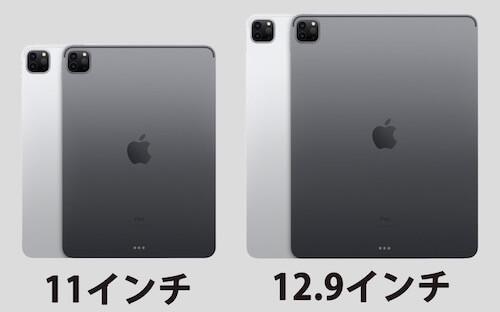 新型 iPad Proのサイズ・重さを比較 11インチ 12.9インチ