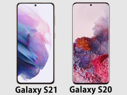 Galaxy S21とGalaxy S20デザイン比較