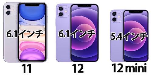 iPhone11/12 サイズ違い