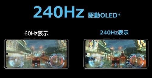 AQUOS zero 6のディスプレイ